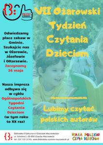 7 Ożarowski Tydzień Czytania Dzieciom - Plakat